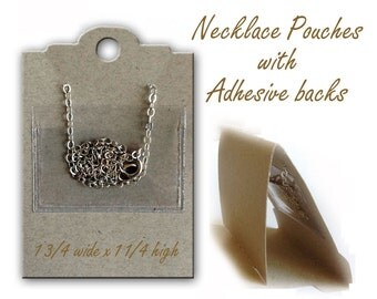 Necklace Chain Holder, Chain Pocket, Necklace Card Envelope, Plastic Necklace Envelopes, Chain Holder for Necklace Cards