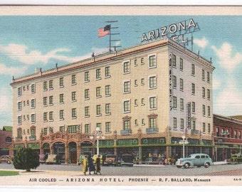 Arizona Hotel Phoenix AZ 1937 postcard