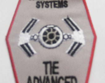 STAR WARS sienar fleet systems Tie Ln Advance starfighter Patch Badge