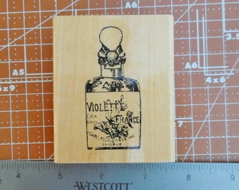 French Perfume Bottle Rubber Stamp 1999