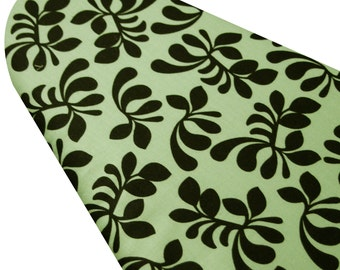 Ironing Board Cover custom sizes including brabantia, more ELASTIC around edges Hello Gorgeous black blossoms on green pick your size