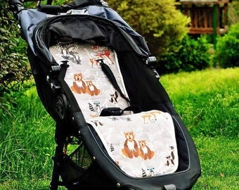 Personalized Reversible Stroller Pad Liner  ..Baby Jogger City Mini.... Baby Jogger City Mini GT- - - Made to Order - - -