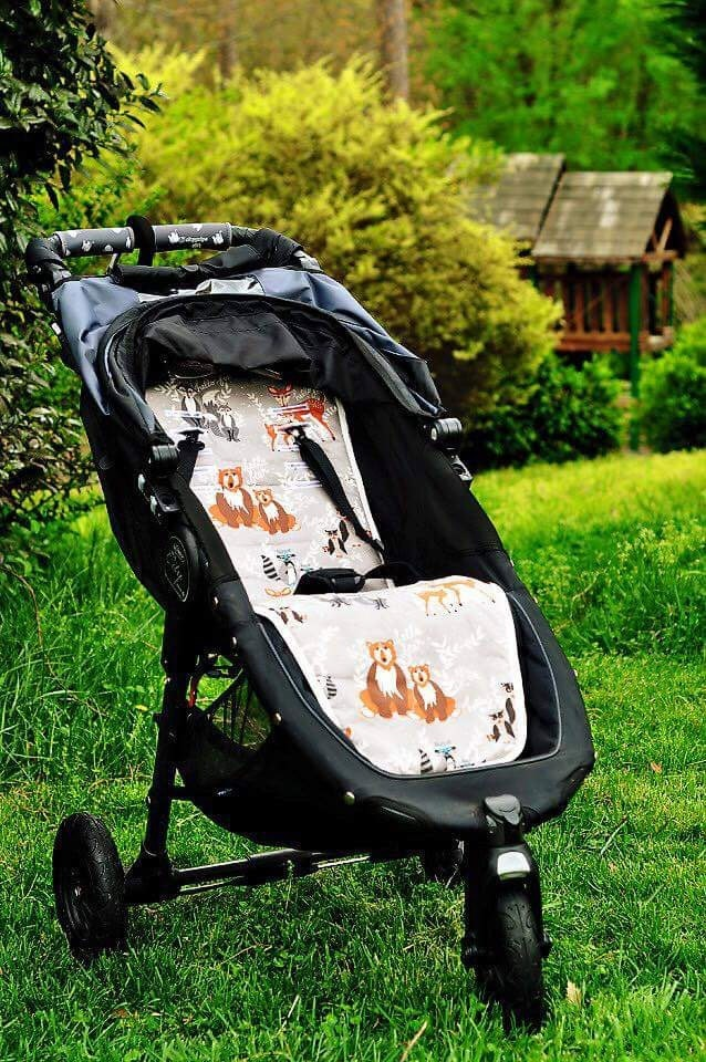 Personalized Reversible Stroller Pad Liner By Dimplesmonkey