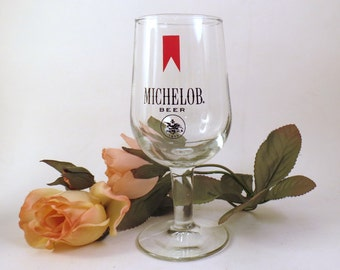 A Beer for Her Ladies Michelob Beer Glass Stem Bar Barware