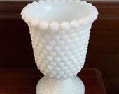 Vintage hobbail milkglass piece