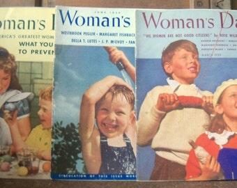 Woman's Day Magazine (3)/Vintage Magazine 1939/Women's Fashions, Household Advertising, 1930s styles, Recipes, Food, Kitchens