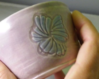 Small Lavender Zen Japanese Tea Bowl
