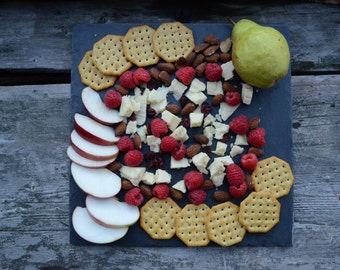 12 x 12 Slate Cheese Board Cheeseboard Hot Plate Platter Serving Tray