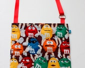 Washable, Eco-Friendly Car Trash Bag in M and M Candy Fabric