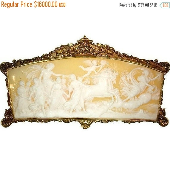 Summer Sale Antique French cameo gold mounting Baroque