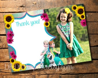Frozen Fever Thank You Cards