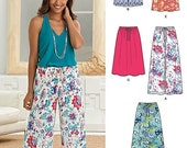 ON SALE New Look Separates Pattern 6271 -  Misses' Easy Wide Leg Pants or Shorts and Flared Skirt in Multiple Lengths - Sz 10 to 22 - Uncut