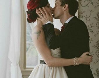Pearl Cuff Bracelet / Bridal Bracelet / Wedding Jewelry / Beaded Bracelets Arm Cuffs / Freshwater Pearl / Modern Chic Jewelry Rock and Roll