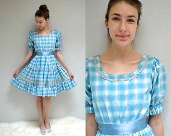 Square Dance Dress  //  60s Patio Dress //  THE RIC RAC