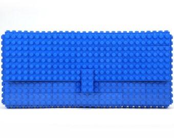 Blue clutch purse made with LEGO® bricks FREE SHIPPING purse handbag legobag trending fashion
