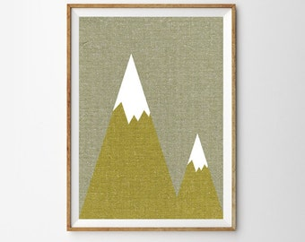 The Mountains are calling  Print, Wanderlust, Woodland, Large Wall Art, Oversized Art , Mountains Poster, Trending Items, Trending Now