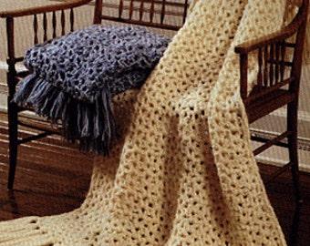 Crochet Simple Afghan Throw