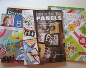 8 quilting books - instant collection - Learn to Quilt with Panels, 9 patch pizzazz, Missouri Star Block, and more