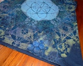 S Seed of Life Metatron's Fractal Mandala Sacred Geometry Racer Back Tank Top Handpainted Sacred Geometry Mandala w/ Flower of Life