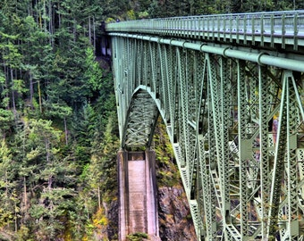 Deception Pass Bridge Landscape Photography Fine Art Photo