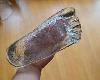 vintage blenko glass foot ashtray - don shepherd