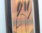 Collectible Mid Century  Virgil Thrasher Shadow Box Wall Art Sunrise