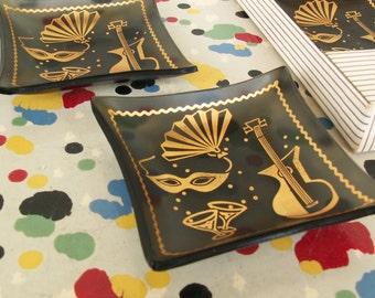 Glass Craft Card Mates Tiny Ashtrays