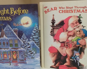 Final Clearance The Night Before Christmas and The Bear Who Slept Through Christmas Children's Books