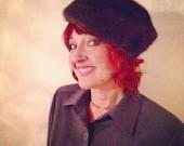 VALENTINES DAY SALE vintage fur pillbox hat / 1960s mink / sable brown madmen Hillary