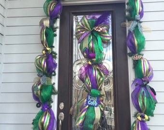 New Orleans Mardi Gras Garland 16 ft