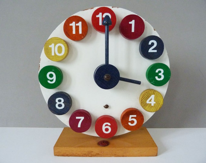 Vintage Sio wooden  toy clock