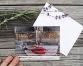 "Paris Photo Notecard - ""La Bouche"" - Single Folded Card with Envelope, Blank Inside"