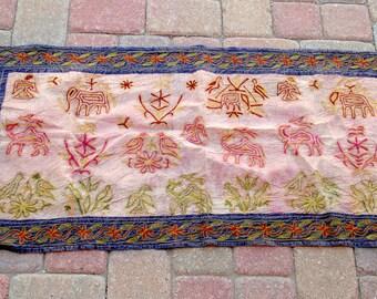 """Vintage Indian Textile 23""""x46"""""""