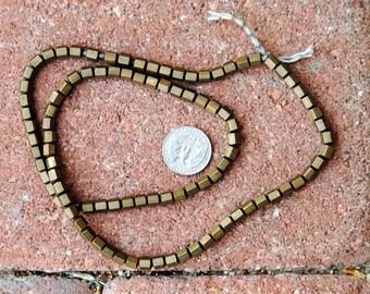 Indian Metal Beads : Bronze Finish 5x5mm