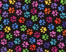Popular Items For Paw Print Fabric On Etsy