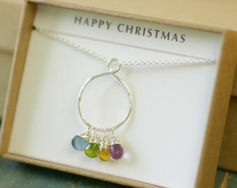 Mother's infinity necklace, family necklace for mom gift for mother, grandmother necklace birthstone - Carys
