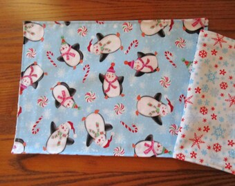Child Size Placemats and Napkins, Penguins