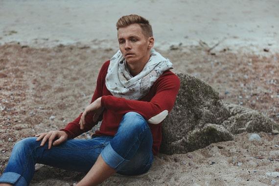 Boho Scarf | Bohemian Scarf | Nature Lover Gift | Soft Linen Scarf | Boho Accessory | OOAK scarf