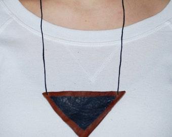 Triangular Leather Necklace