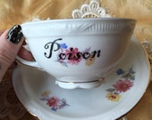 Poison Floral Tea Cup and Saucer Set