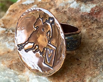 Sterling and Copper Bronc Rider