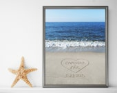 Sand Writing Personalized Print, Beach Wall Art, Beach Decor, Couples Gift, Custom Gift for Her, Boyfriend Gift, Wedding Shower Gift