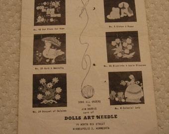 "vintage metal ""Dolls Art Needle""  by Jim Harris . . . Minneapolis, MN. . . very good vintage condition . . unique craft tool or display item"
