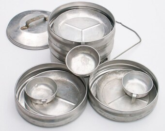 Aluminum Pans Stackable Lunch Box Portable Pie Safe Camping Serving Set