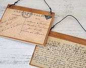 Postcard wood signs