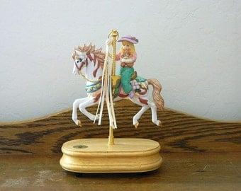 Breckenridge Carousel Horse and Girl Figurine Music Box - The Carousel Waltz - 1993
