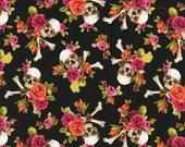 Michael Miller - Charm Skull - Skulls Out - Coral
