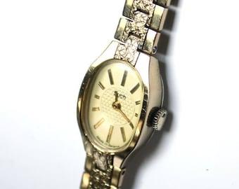 25% OFF ON SALE Ladies watch Luch, womens wrist watch from Belarus Soviet Union, Gold watch Luch, Vintage gold wrist watch