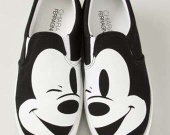 Black Mickey Mouse Shoes