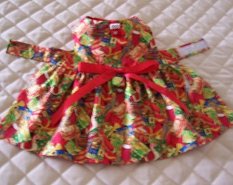 Sale XS-S Dog Dress Christmas Gifts Presents Bow Clothes Handmade